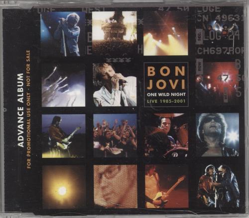 Bon Jovi One Wild Night CD album (CDLP) UK BONCDON184717