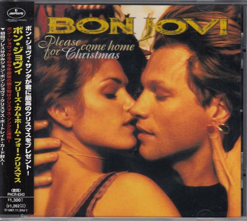 Christmas Please Come Home.Bon Jovi Please Come Home For Christmas Xmas Card Japanese Promo Cd Single Cd5 5