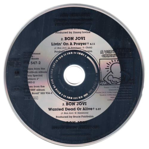 """Bon Jovi Please Come Home For Xmas - 4-track promo CD single (CD5 / 5"""") German BONC5PL59057"""