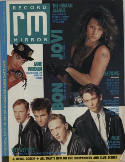Bon Jovi Record Mirror magazine UK BONMARE607904