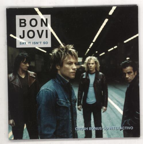 """Bon Jovi Say It Isn't So - interactive CD single (CD5 / 5"""") Mexican BONC5SA166608"""