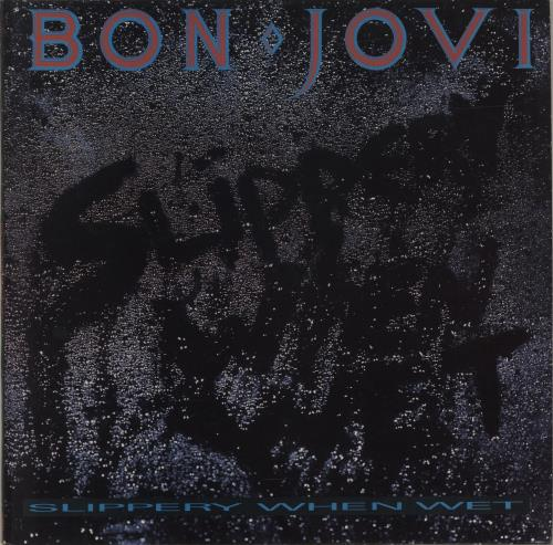 Bon Jovi Slippery When Wet - White Label vinyl LP album (LP record) UK BONLPSL684228