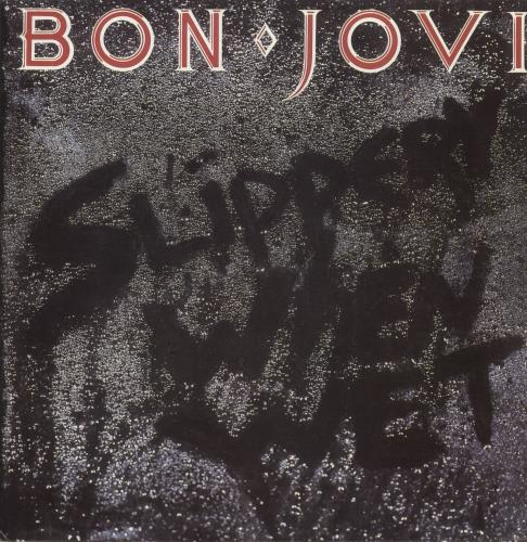 Bon Jovi Slippery When Wet vinyl LP album (LP record) Colombian BONLPSL239760