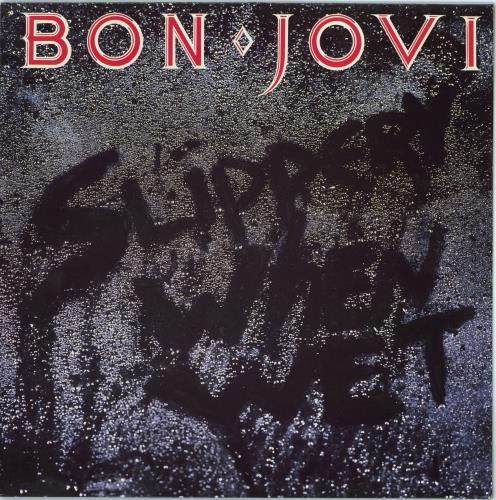 Bon Jovi Slippery When Wet vinyl LP album (LP record) Dutch BONLPSL770338