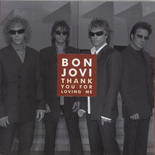 """Bon Jovi Thank You For Loving Me  - Stickered CD single (CD5 / 5"""") UK BONC5TH738314"""