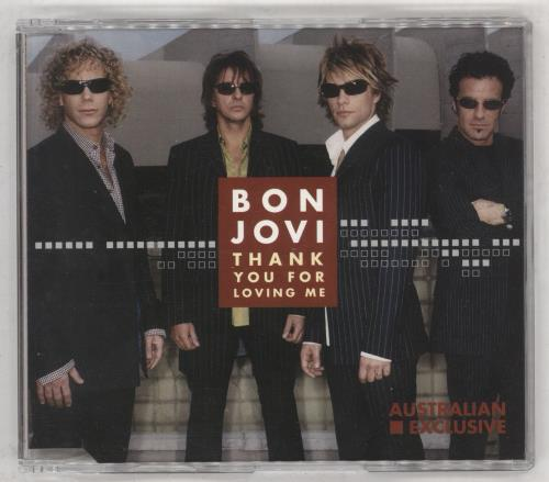 """Bon Jovi Thank You For Loving Me CD single (CD5 / 5"""") Australian BONC5TH170144"""