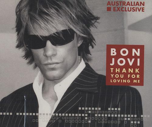 """Bon Jovi Thank You For Loving Me CD single (CD5 / 5"""") Australian BONC5TH213467"""