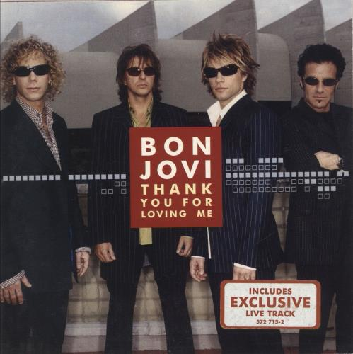 "Bon Jovi Thank You For Loving Me CD single (CD5 / 5"") German BONC5TH712387"