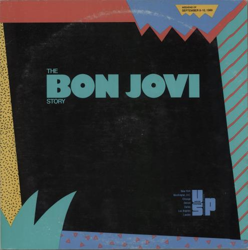 Bon Jovi The Bon Jovi Story - Clear Vinyl 2-LP vinyl record set (Double Album) US BON2LTH143258