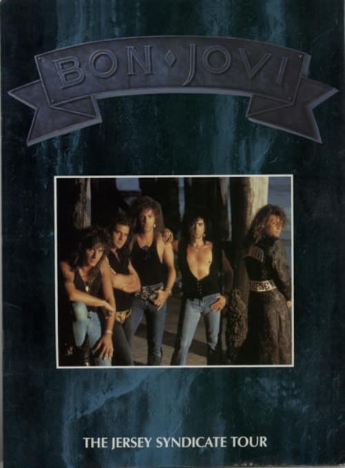 Bon Jovi The Jersey Syndicate Tour - Blue Cover tour programme UK BONTRTH586787