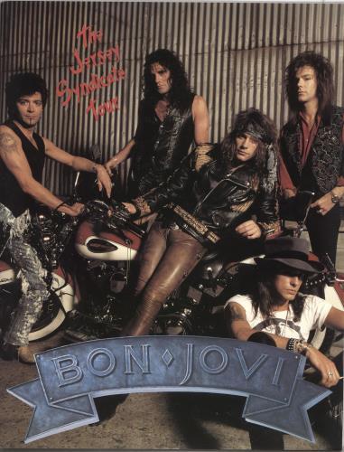 Bon Jovi The Jersey Syndicate Tour - Motorcycle Cover + Ticket Stub &  Patches UK tour programme
