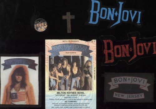 Bon Jovi The Jersey Syndicate Tour - Motorcycle Cover + Ticket Stub & Patches tour programme UK BONTRTH728701
