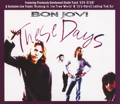 Bon Jovi These Days + prints 2-CD single set (Double CD single) UK BON2STH174683