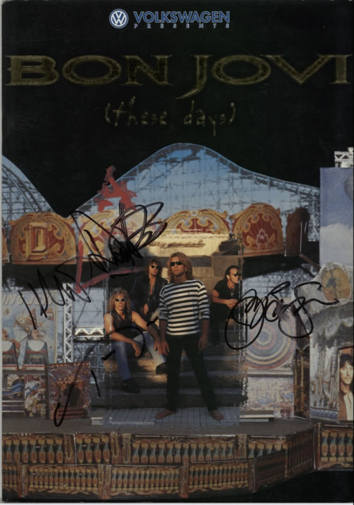 Bon Jovi These Days - Fullly Autographed tour programme UK BONTRTH364632