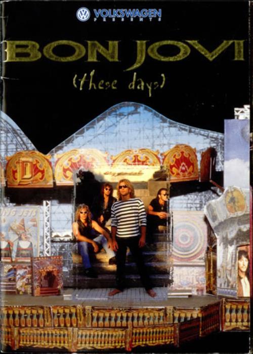 Bon Jovi These Days tour programme UK BONTRTH521432