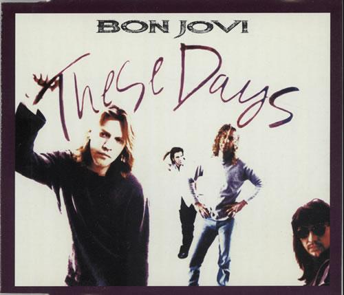 """Bon Jovi These Days CD single (CD5 / 5"""") UK BONC5TH59127"""
