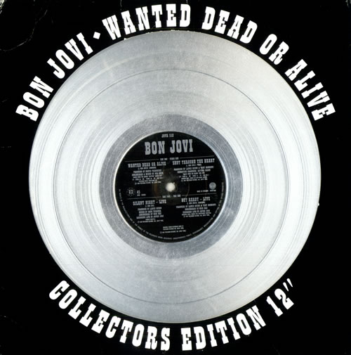 "Bon Jovi Wanted Dead Or Alive - EX 12"" vinyl single (12 inch record / Maxi-single) UK BON12WA516563"