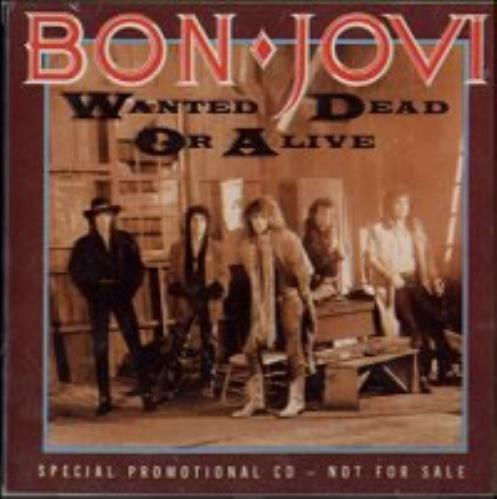 Bon Jovi Wanted Dead Or Alive Us Promo Cd Single Cd5 5