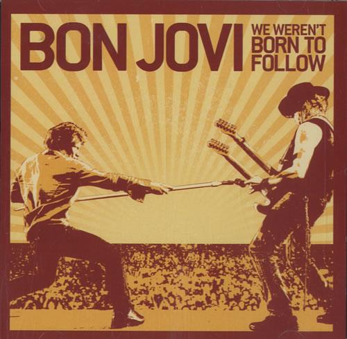 "Bon Jovi We Weren't Born To Follow CD single (CD5 / 5"") US BONC5WE489607"
