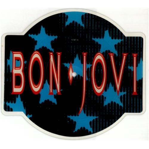 Bon Jovi You Give Love A Bad Name shaped picture disc (picture disc vinyl record) UK BONSHYO00510