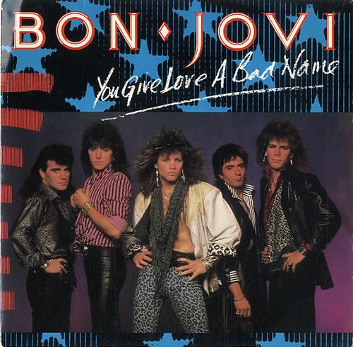 """Bon Jovi You Give Love A Bad Name 7"""" vinyl single (7 inch record) UK BON07YO581024"""