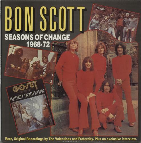 Bon Scott Seasons Of Change 1968-1972 vinyl LP album (LP record) Australian BSCLPSE672213