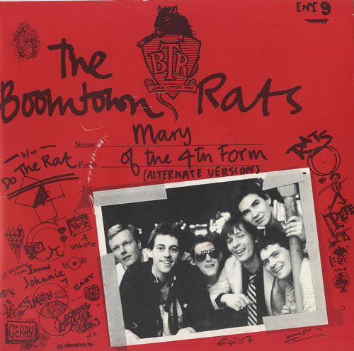 "Boomtown Rats Mary Of The 4th Form - Red Sleeve 7"" vinyl single (7 inch record) UK RAT07MA242291"