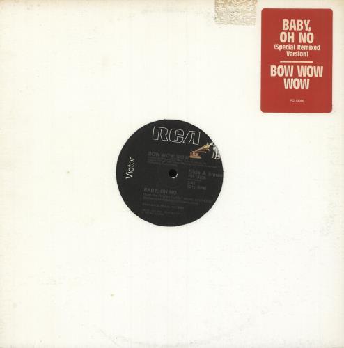 "Bow Wow Wow Baby Oh No 12"" vinyl single (12 inch record / Maxi-single) US BWW12BA749765"
