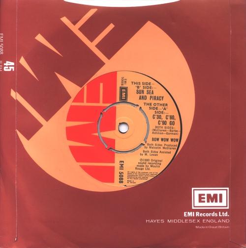 "Bow Wow Wow C'30 C'60 C'90 Go 7"" vinyl single (7 inch record) UK BWW07CC55990"