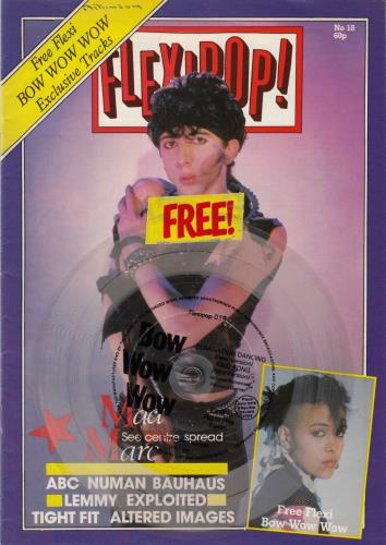 Bow Wow Wow Flexipop! Magazine Issue 18 + Clear Flexi magazine UK BWWMAFL386396