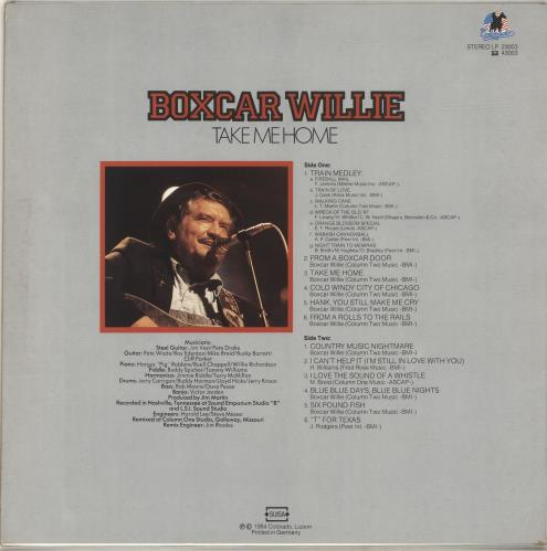 Boxcar Willie Take Me Home vinyl LP album (LP record) German BXCLPTA693211