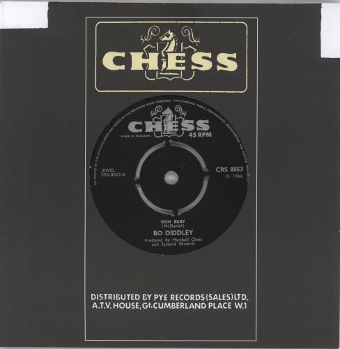 "Bo Diddley Ooh Baby 7"" vinyl single (7 inch record) UK BOD07OO768319"