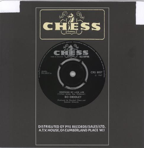 "Bo Diddley Wrecking My Love Life 7"" vinyl single (7 inch record) UK BOD07WR768321"