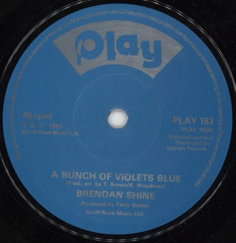 "Brendan Shine A Bunch Of Violets Blue 7"" vinyl single (7 inch record) UK F5E07AB717108"