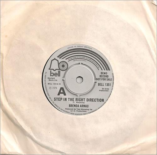 "Brenda Arnau Step In The Right Direction 7"" vinyl single (7 inch record) UK B1A07ST487319"