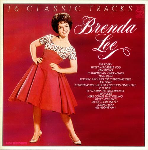 Brenda Lee 16 Classic Tracks Uk Vinyl Lp Album Lp Record