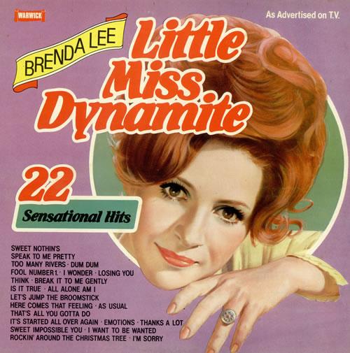 Brenda Lee Little Miss Dynamite Uk Vinyl Lp Album Lp