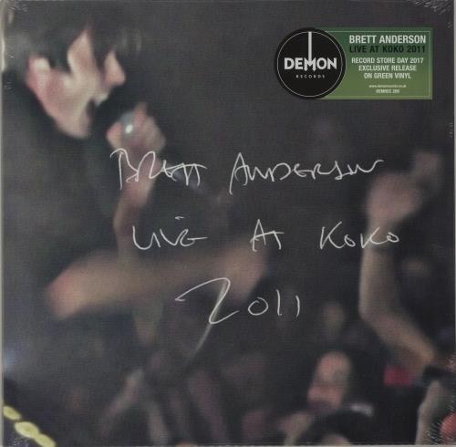 Brett Anderson Live at Koko 2011 - RSD17 - Green Vinyl + Sealed vinyl LP album (LP record) UK BT8LPLI682370