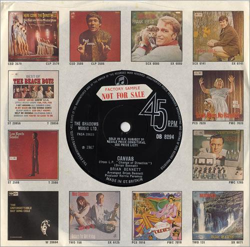 "Brian Bennett Canvas - Factory Sample 7"" vinyl single (7 inch record) UK ENN07CA480761"