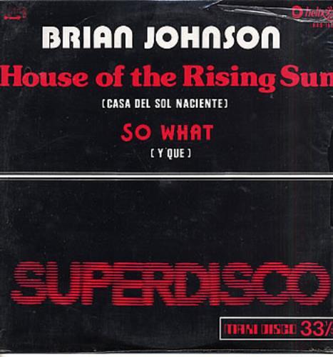 "Brian Johnson House Of The Rising Sun 12"" vinyl single (12 inch record / Maxi-single) Mexican BJS12HO289746"
