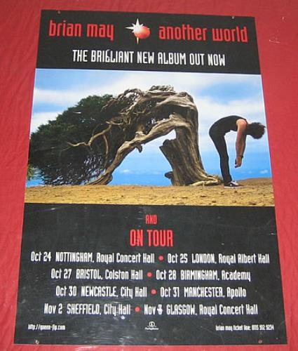 Brian May Another World - Hanging Window Banner display UK MAYDIAN117350