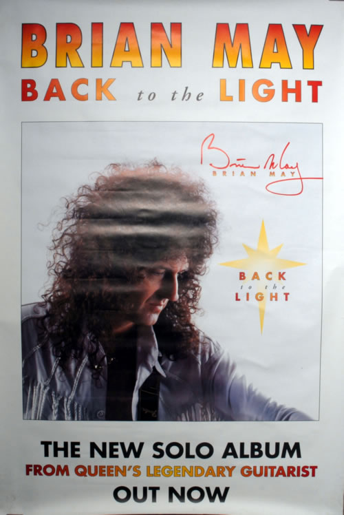 Brian May Back To The Light poster UK MAYPOBA11343