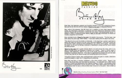 Brian May Back To The Light media press pack US MAYPPBA15592
