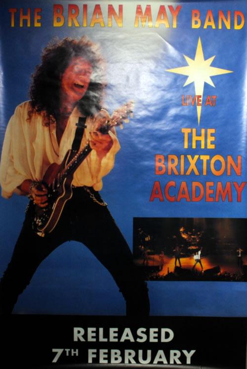 Brian May Live At The Brixton Academy poster UK MAYPOLI26392