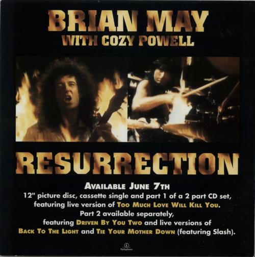 Brian May Resurrection - Display flat display UK MAYDIRE615944