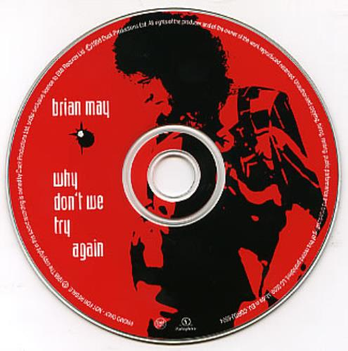 "Brian May Why Don't We Try Again CD single (CD5 / 5"") UK MAYC5WH119171"