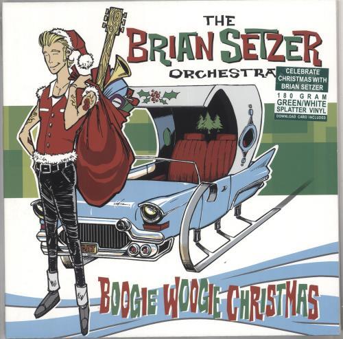 Brian Setzer Boogie Woogie Christmas - Green & White Vinyl - Sealed vinyl LP album (LP record) UK SETLPBO733829
