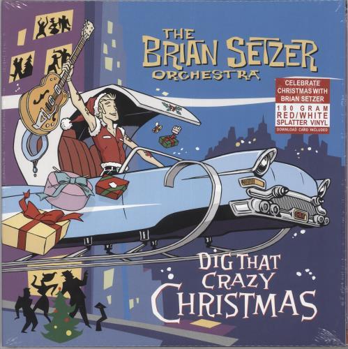 Brian Setzer Dig That Crazy Christmas - Red & White Vinyl - Sealed vinyl LP album (LP record) UK SETLPDI733830