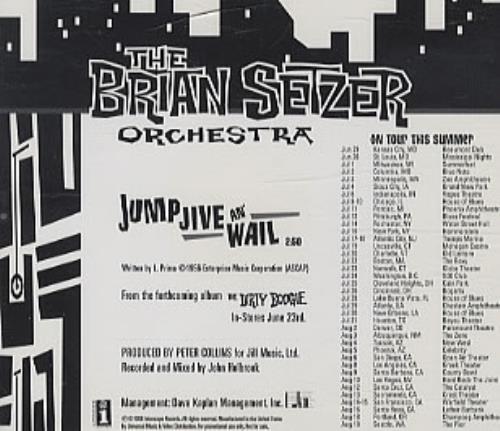 "Brian Setzer Jump Jive An' Wail CD single (CD5 / 5"") US SETC5JU288194"