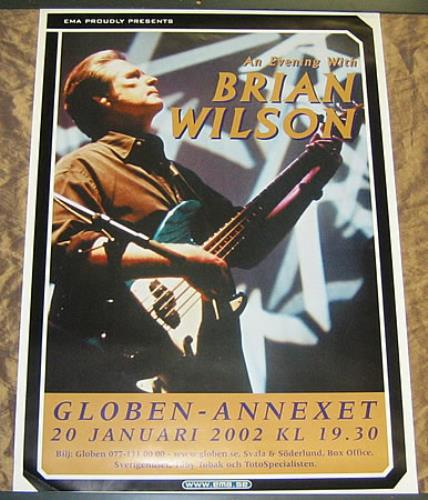 Brian Wilson An Evening With Brian Wilson poster Swedish BWIPOAN360500